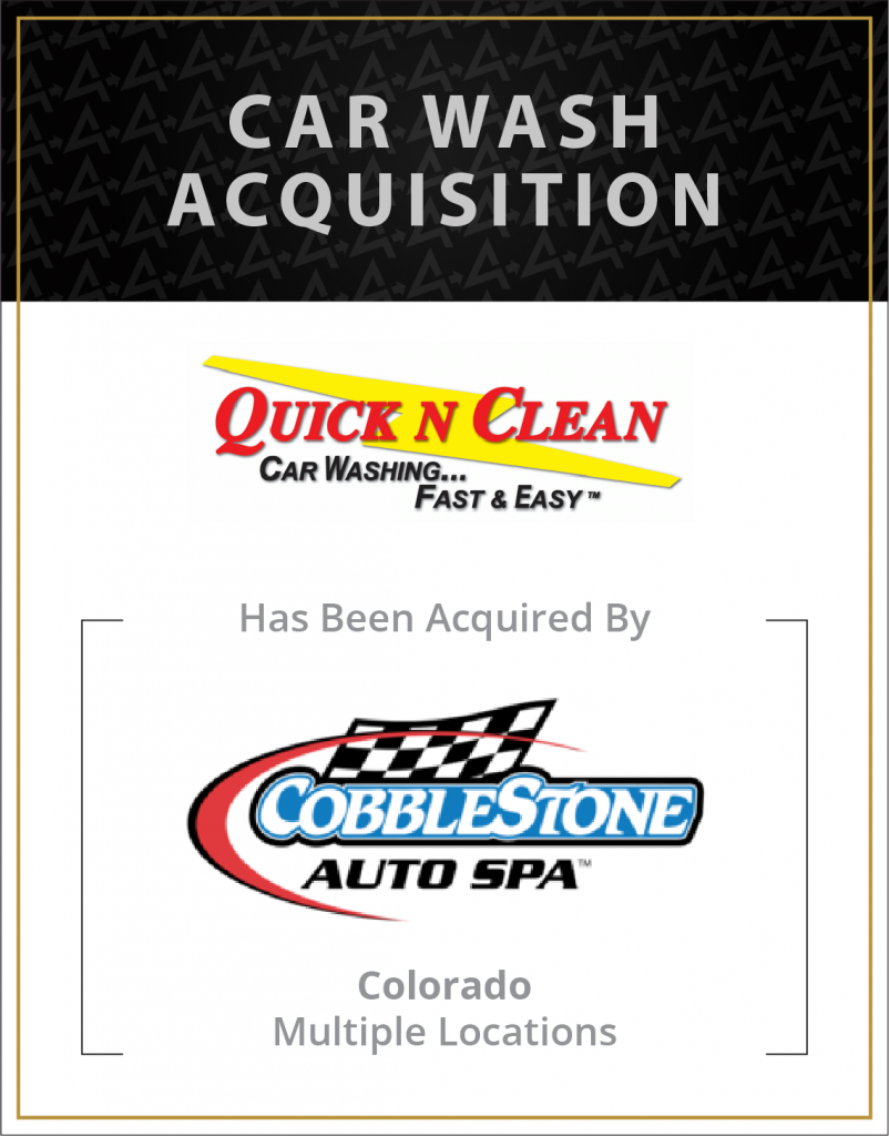 Quick N Clean has been acquired by Cobblestone Auto Spa