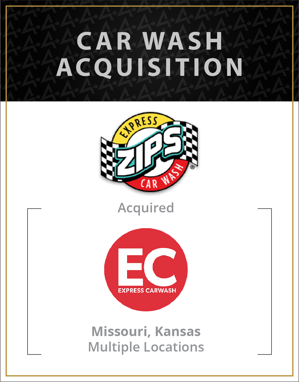 Zips Express Car Wash has acquired Express CarWashes in Missouri and Kansas, Multiple Locations