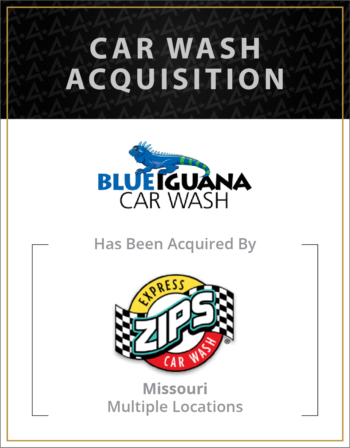 Blue Iguana Car Wash has been acquired by Zips Car Wash