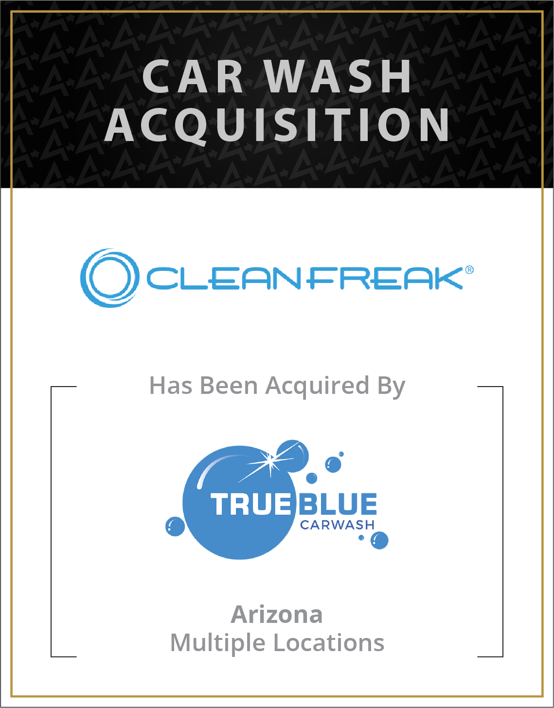 CleanFreak Car Wash has been acquired by True Blue Car Wash