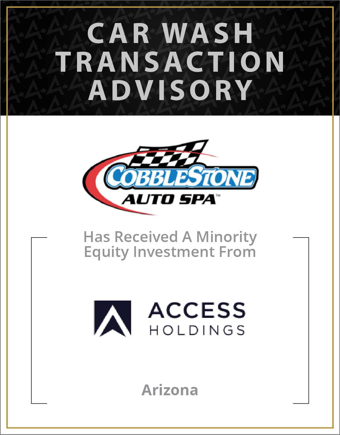 Cobblestone Auto Spa has received a minority equity investment from Access Holdings