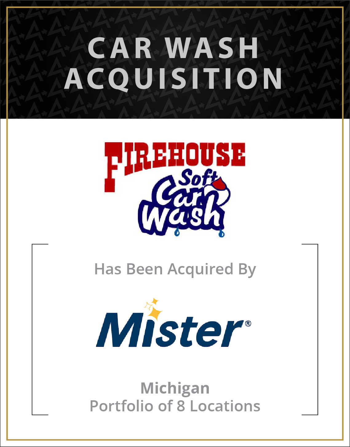 Firehouse Soft Car Wash has been acquired by Mister Carwash