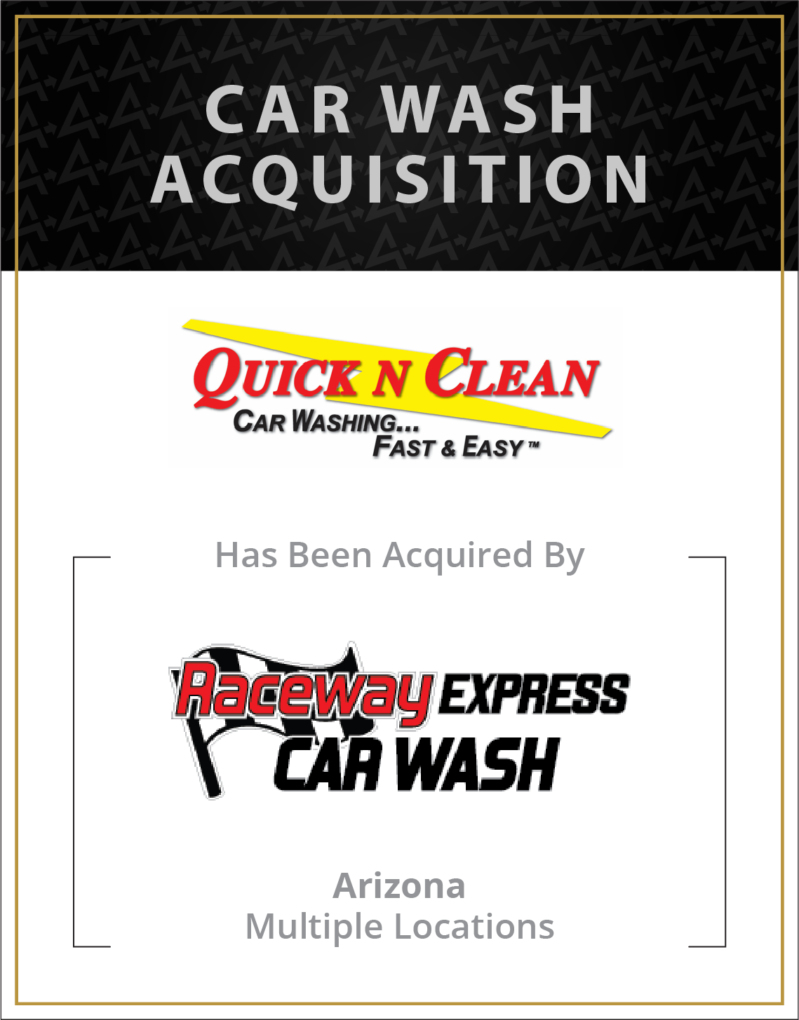 Quick N Clean has been acquired by Raceway Express Car Wash