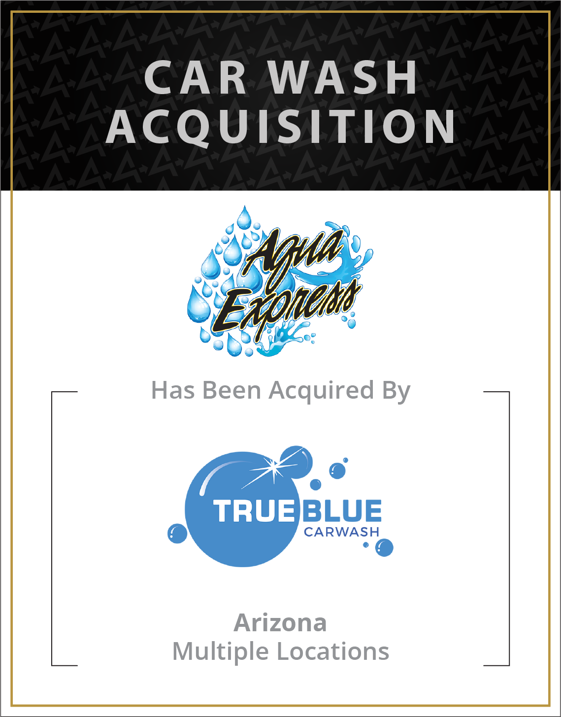 Aqua Express has been acquired by True Blue Car Wash