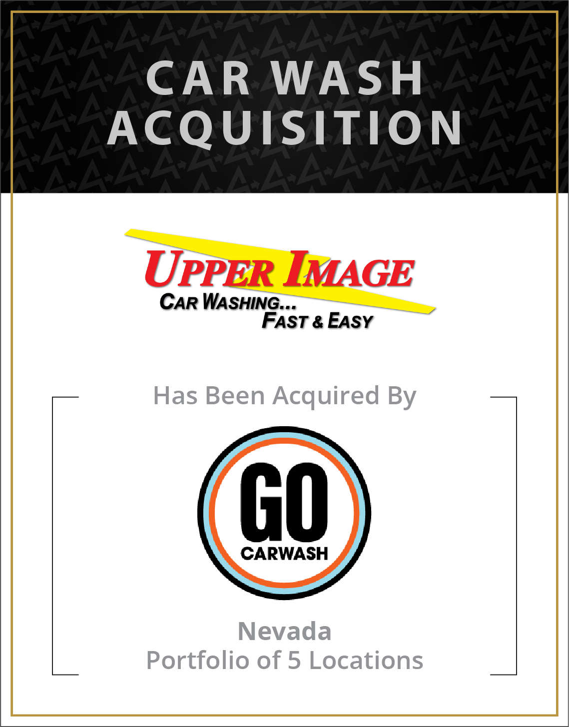 Upper Image Car Wash has been acquired by Go CarWash