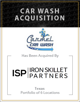 Carmel Car Wash has been acquired by Iron Skillet Partners