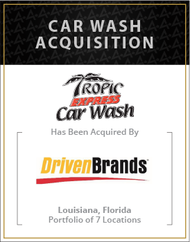Tropic Express Car Wash has been acquired by Driven Brands